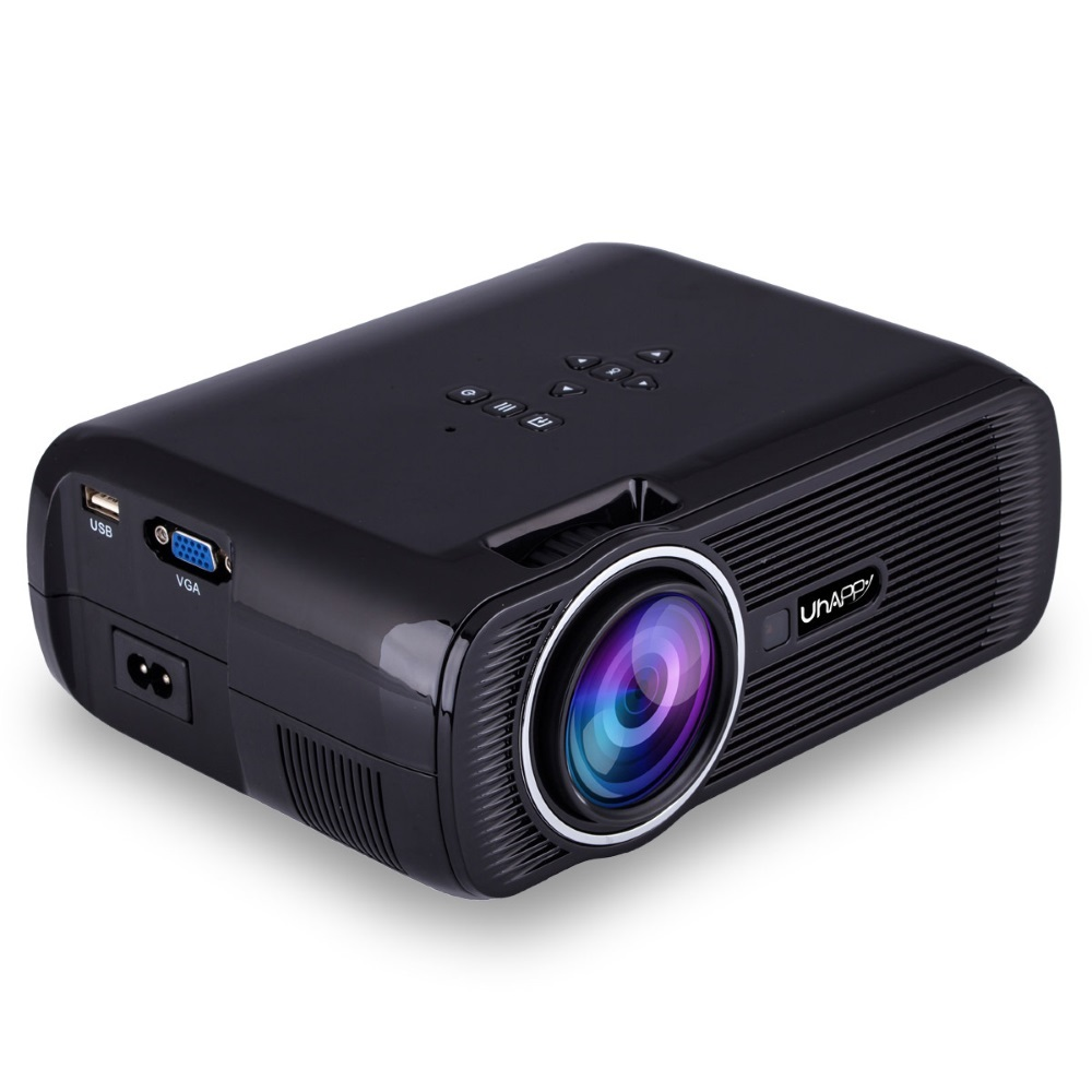 U80 Black Mini LED LCD Projector Home Theater HDMI 1000 Lumens