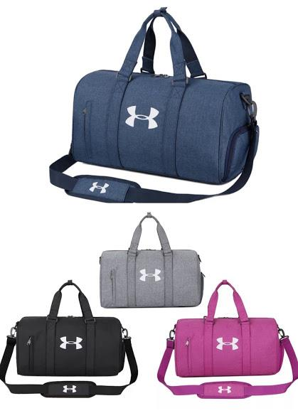 ae6671bee577 UA UNDER ARMOUR Sports Gym Travel Duffle Nylon Bags with Shoes Compart. ‹ ›