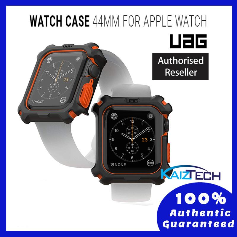 UAG Rugged Protection Case - Apple Watch 44mm Series 4/5 -Black/Orange