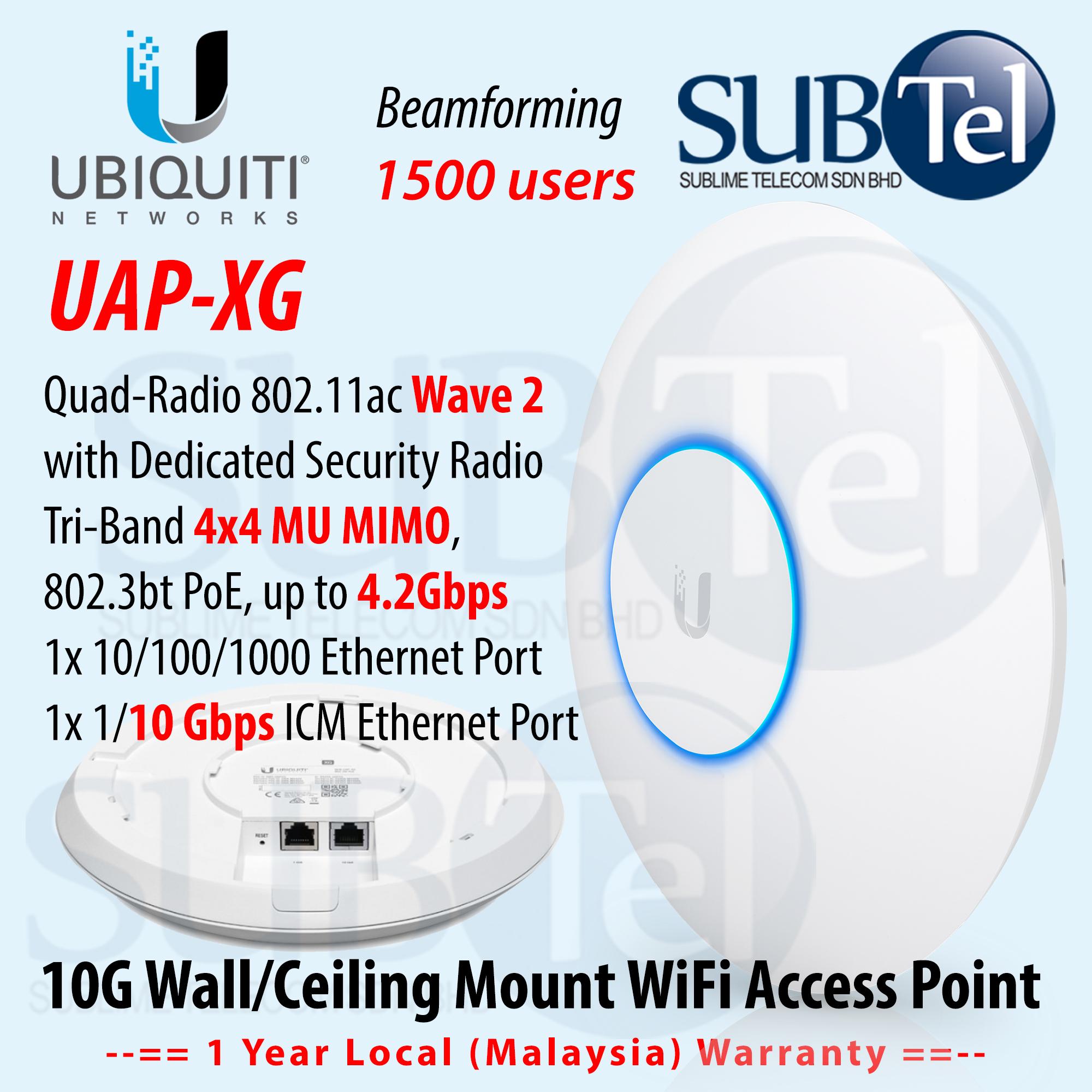 Ubiquiti UAP XG 802 11AC Wave 2 Quad-Radio WiFi AP with 10 Gigabit