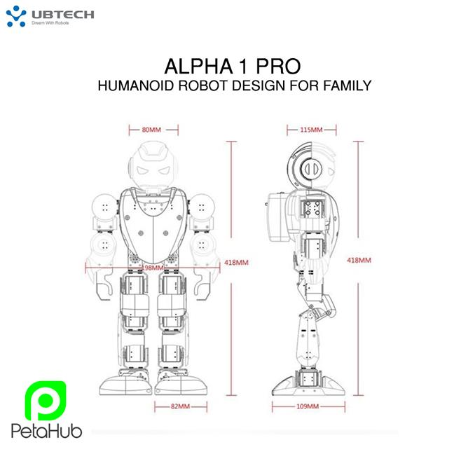 UBTECH Alpha 1 PRO Intelligent Humanoid Robot Design For Family Roboti