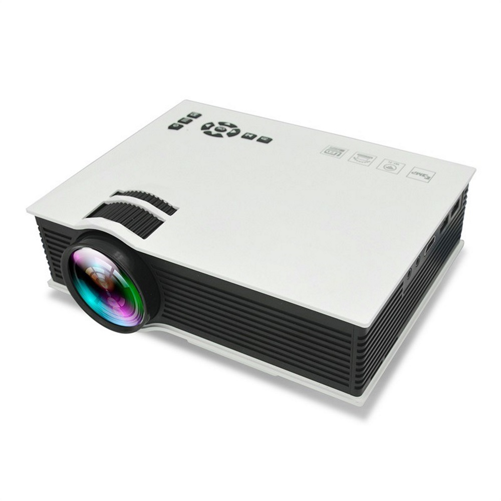 UC46 White Wifi Full HD LED LCD Projector Home Theater HDMI 1200 Lumen..