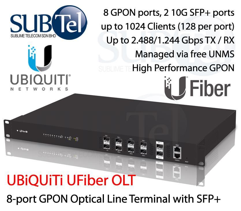 UF-OLT Ubiquiti UFiber GPON 8 port OLT Malaysia PON vs Huawei ZTE FTTH