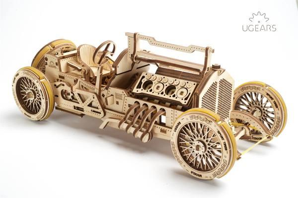 UGears Mechanal Models 70044 U-9 Grand Prix Car