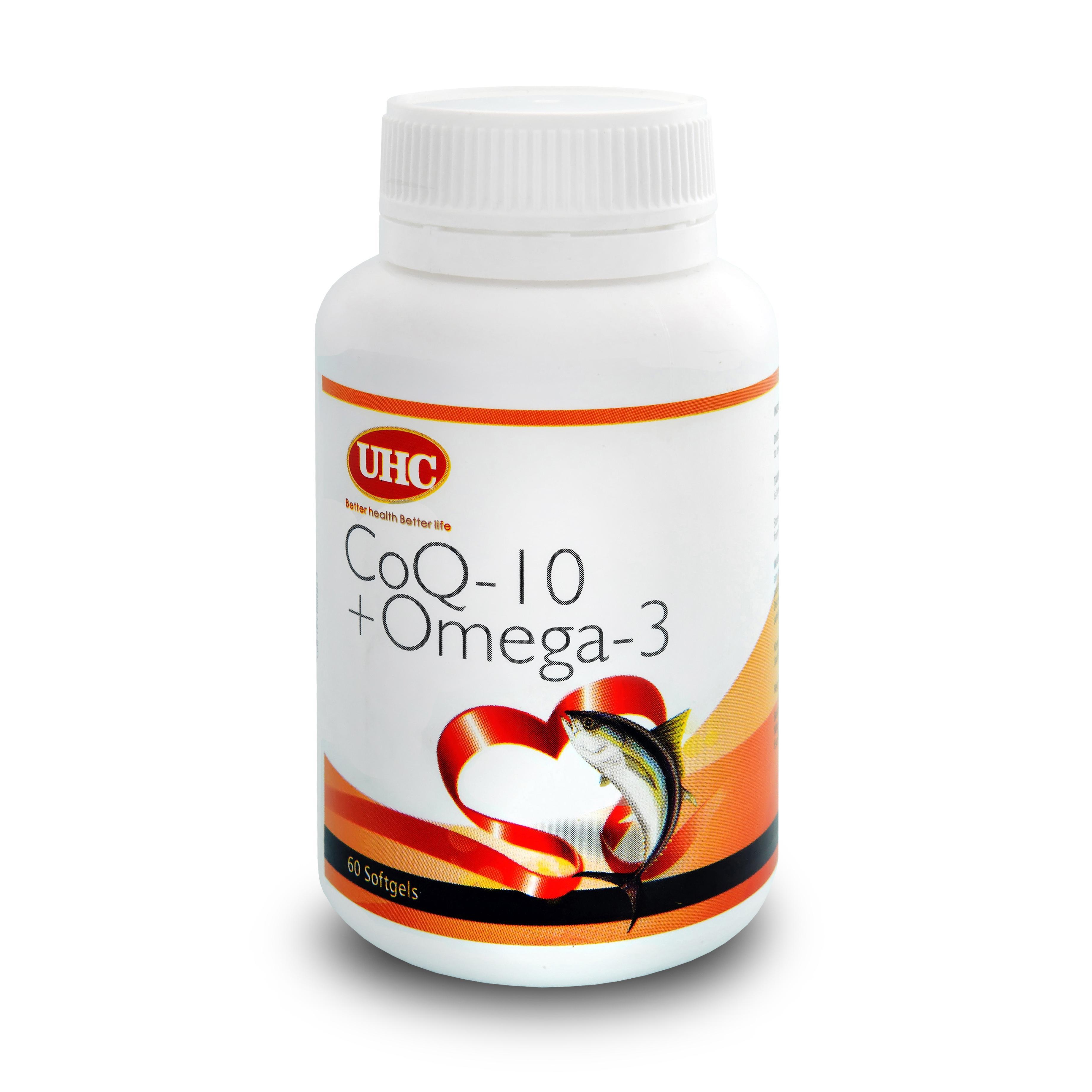 UHC CoQ10 + Omega 3 Softgel 120 ´S