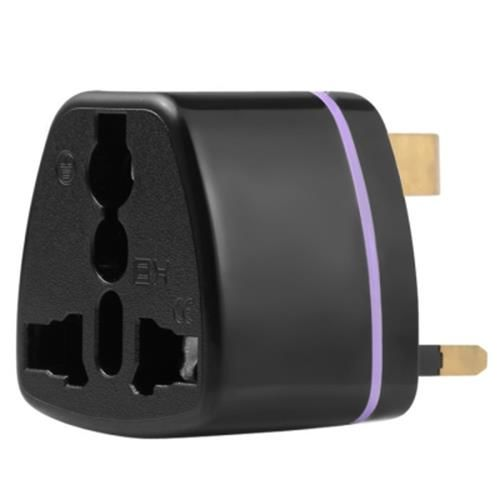 UK PLUG WALL CHARGE SOCKET POWER ADAPTER (BLACK)