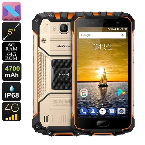 Ulefone Armor 2 64GB Android Rugged Phone (WP-UF2).