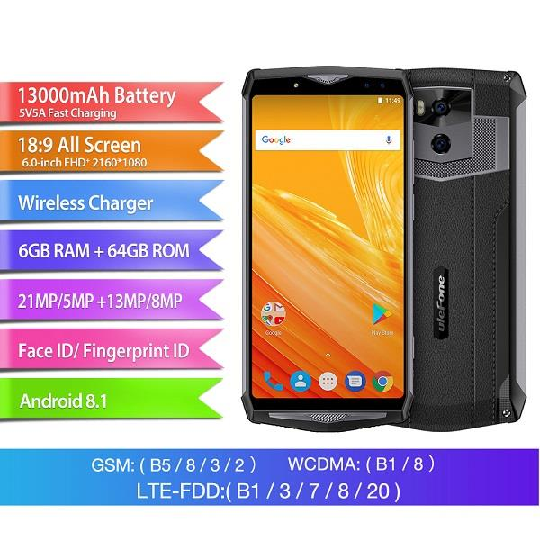 Ulefone Power 5 FHD Display Android Phone (WP-UF5).