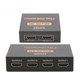 Ultra HD 4K 2 Port & 4 Port HDMI Splitter 1x2 & 1x4 Repeater Amplifier 1080P