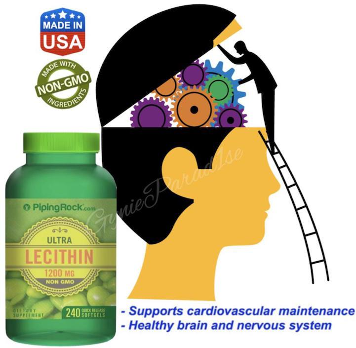 Ultra Lecithin, 1200mg, 240 Softgels (Brain & Nervous Health) USA