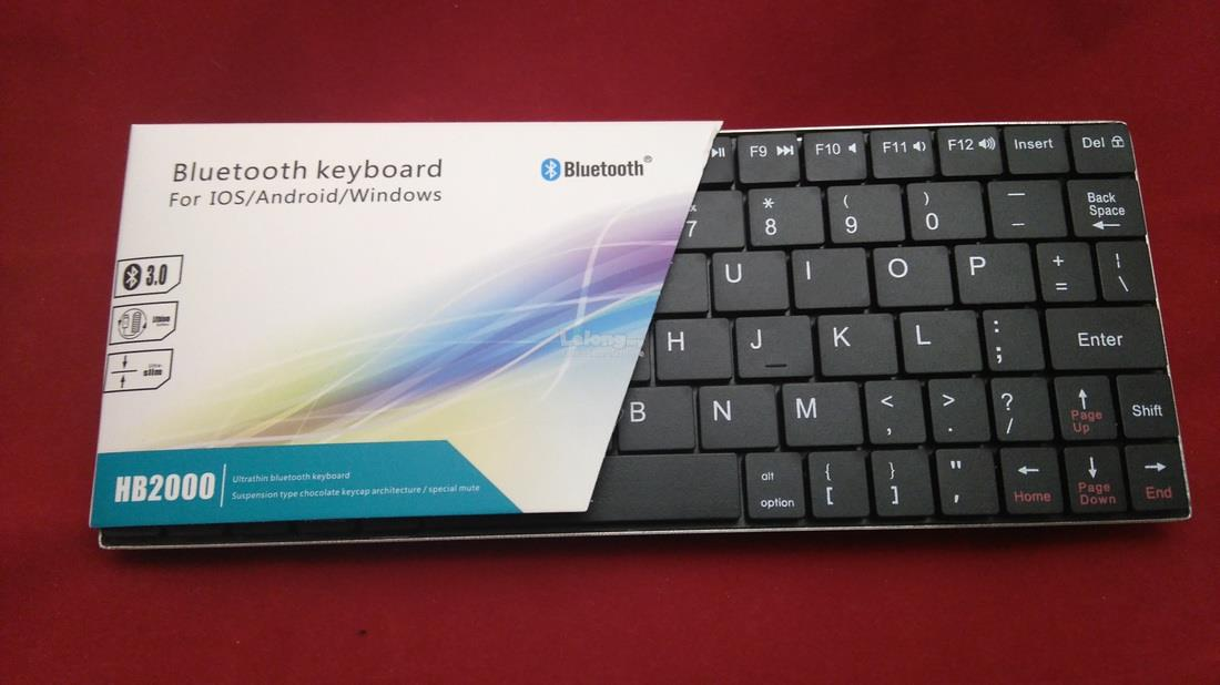 361bb640e19 Ultra Slim Bluetooth Keyboard For iOS/ Android/ Windows HB2000. ‹ ›