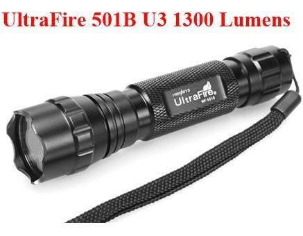 UltraFire 501B With Cree U3 Bulb Torchlight 5 modes 1300 Lumen (SET)