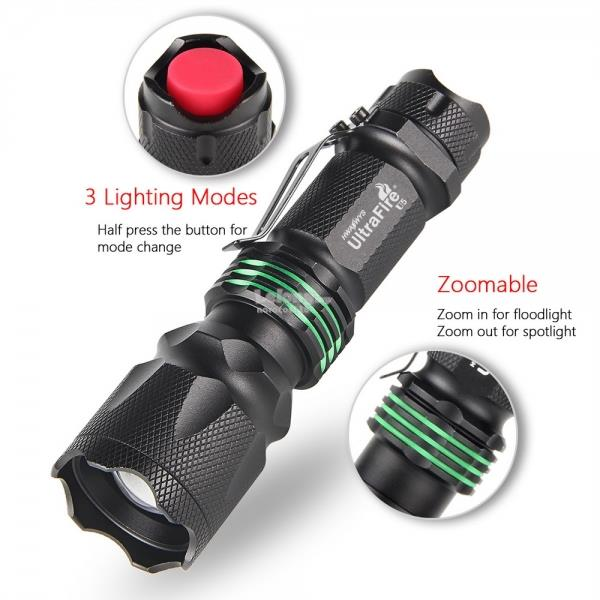 UltraFire U5 Super Tactical Focus Nightlight Flashlight Amazing Bright