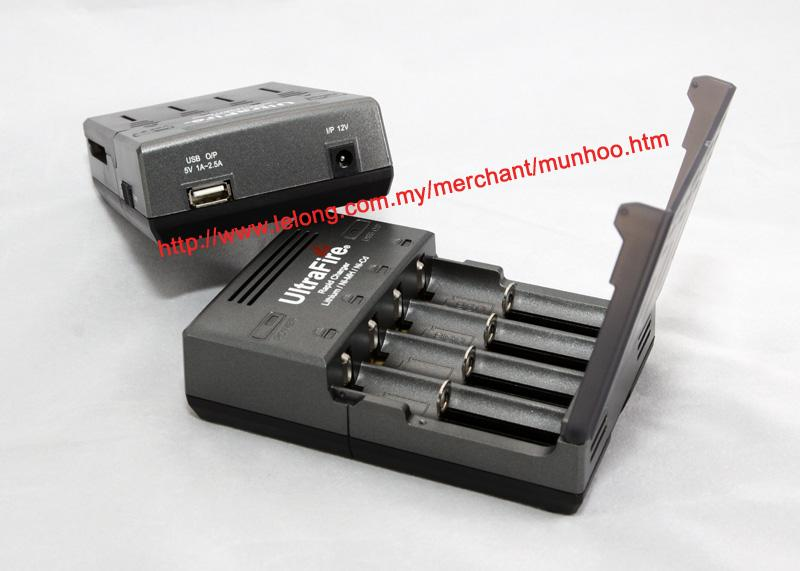 UltraFire WF-128 18500 li-ion Battery 4 bay Charger USB POWERBANK