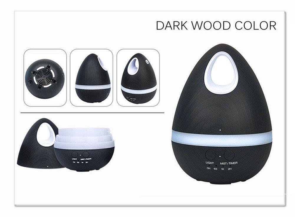 Ultrasonic Essential Oil Diffuser (Dragon Egg)- Dark Wood Grain