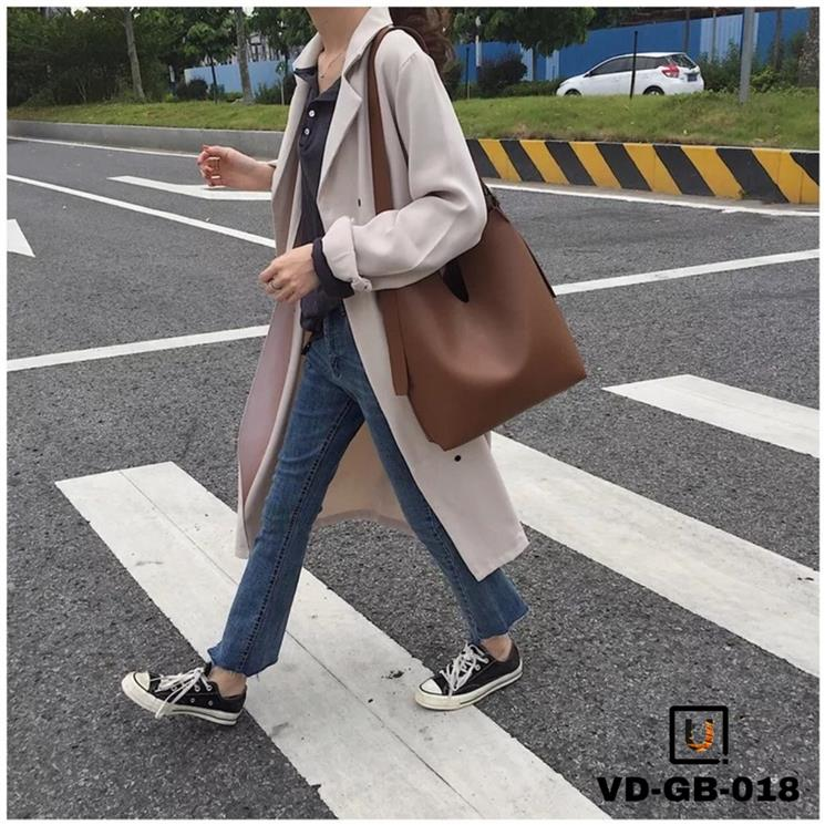 Ulzzang Plain Shoulder Bags Korean Fashion