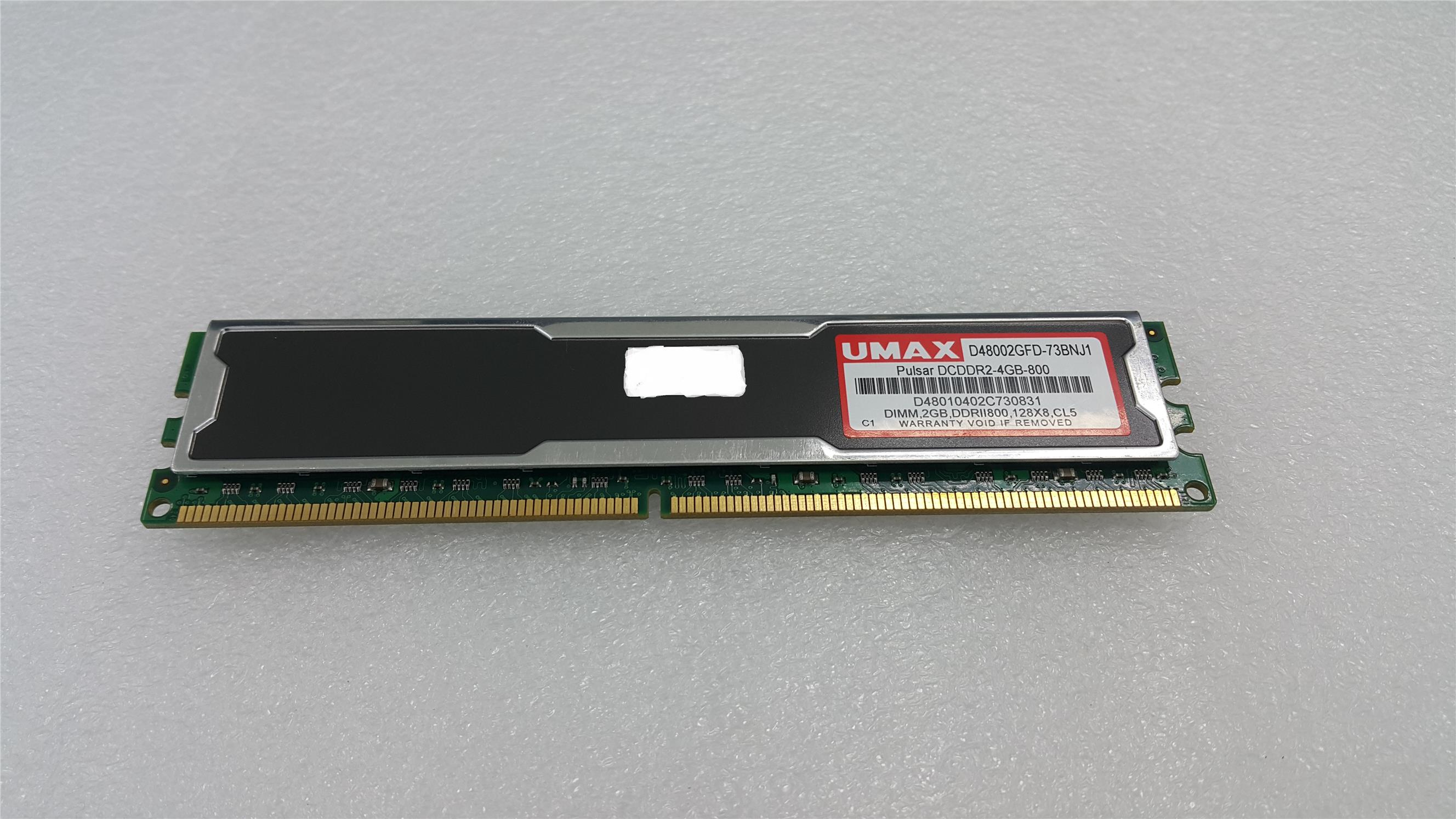 USED Umax 2GB DDR2 DIMM 800MHz PC2-6400 Desktop PC RAM
