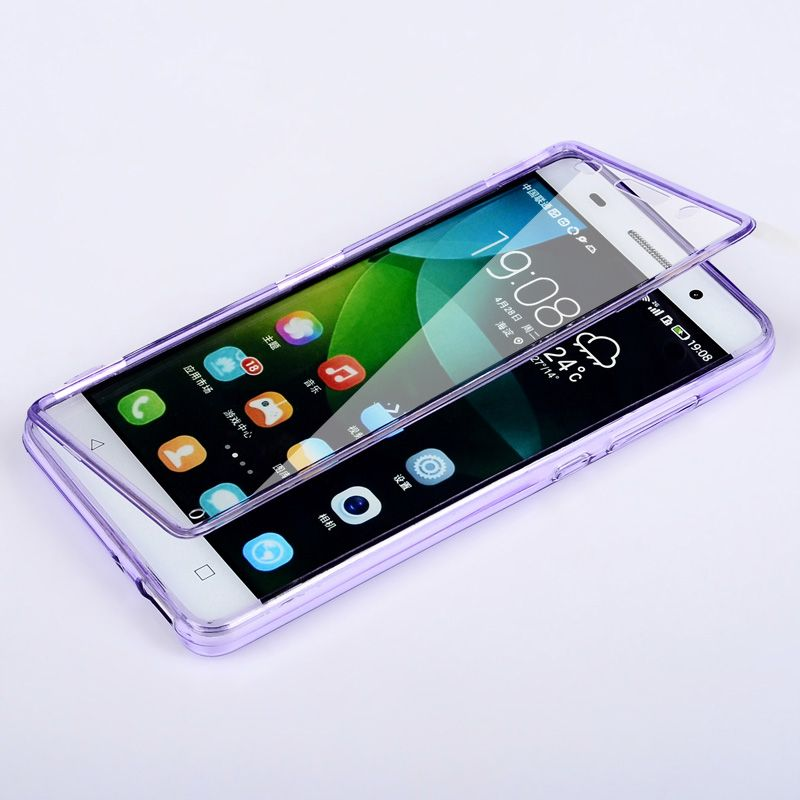 UMGG Huawei Honor 4C Transparent Armor Flip Case Cover Casing