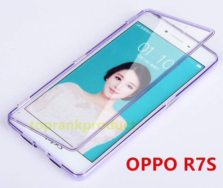 UMGG OPPO R7S Transparent Flip Case Cover Casing + Free Gift