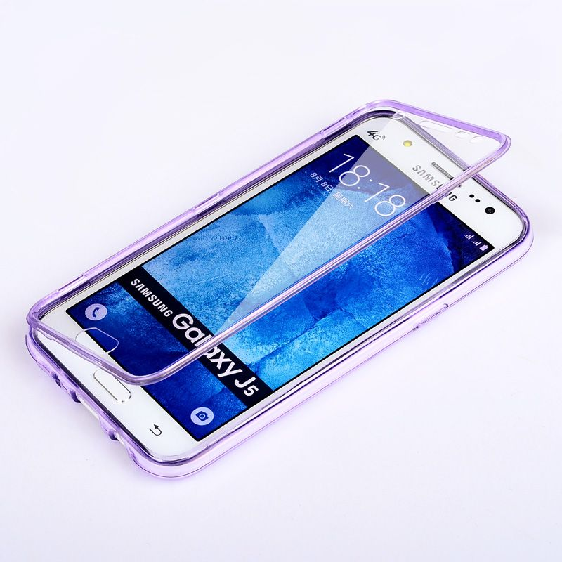 UMGG Samsung J5 J5008 Transparent Armor Flip Case Cover Casing