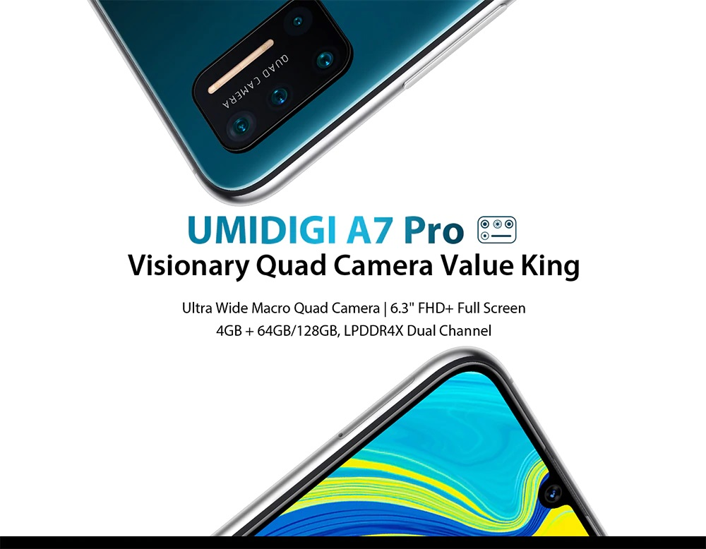 UMIDIGI A7 Pro Quad Camera Android 10 OS