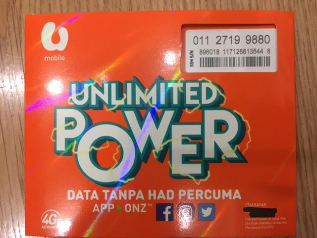 Umobile POWER Prepaid 01127199880