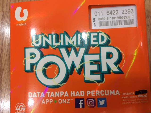 UMOBILE Prepaid 01164222393