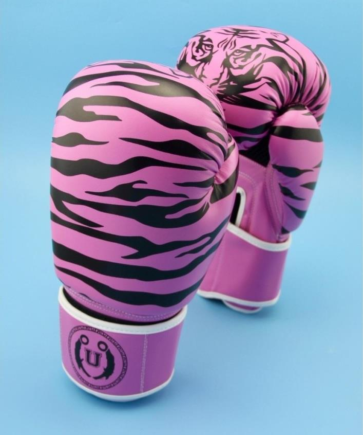 UNBEATABLE Pink Stripe Boxing Glove SEAL Series 8 oz