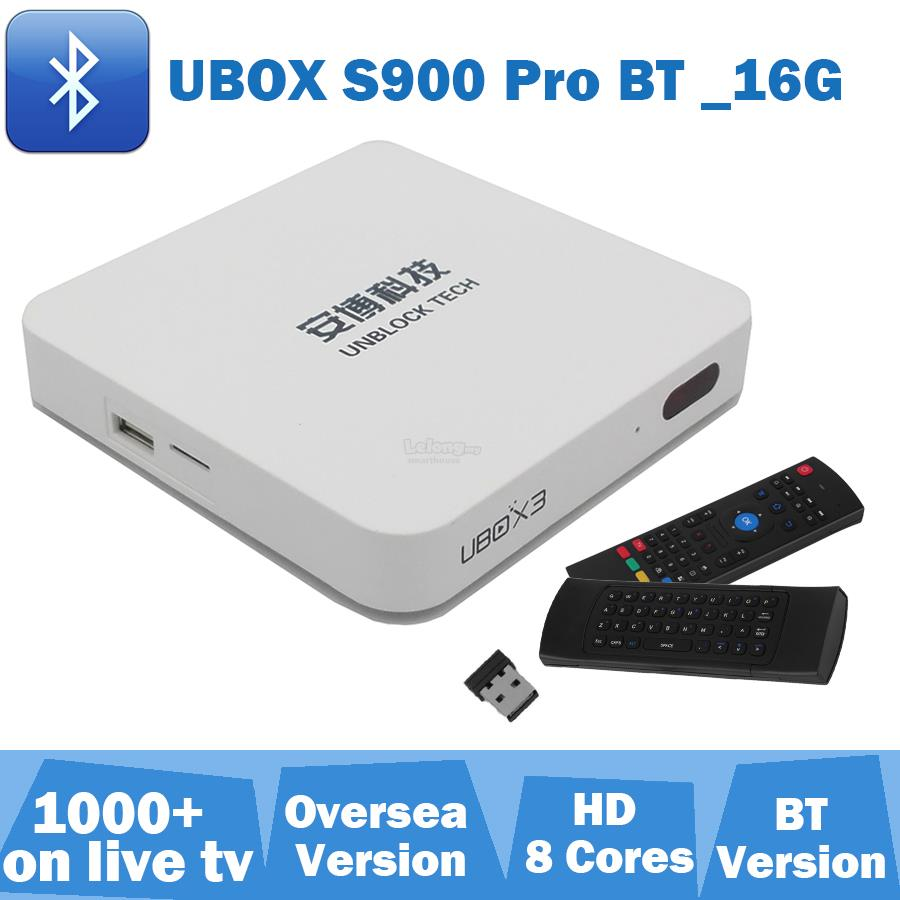 Unblock tech 3 s900 bluetooth pro andriod tv box hd 4k airmouse q7 mic