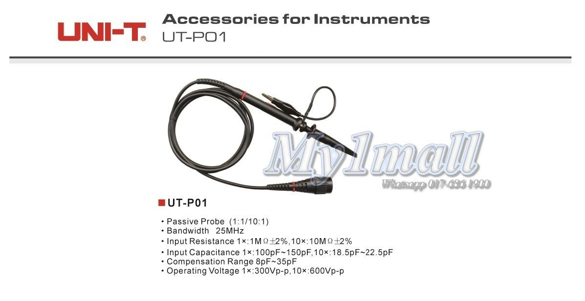 UNI-T UT-P01 25MHz Measuring Lead Testing Probe