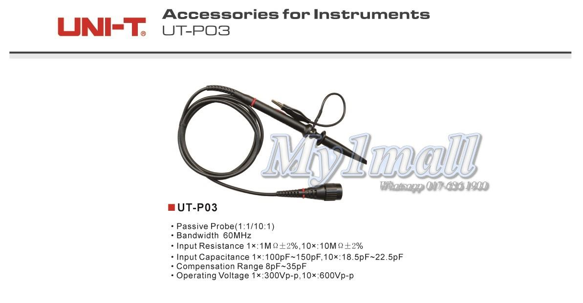 UNI-T UT-P03 Passive Probe 60MHz Measuring Lead Test Probe
