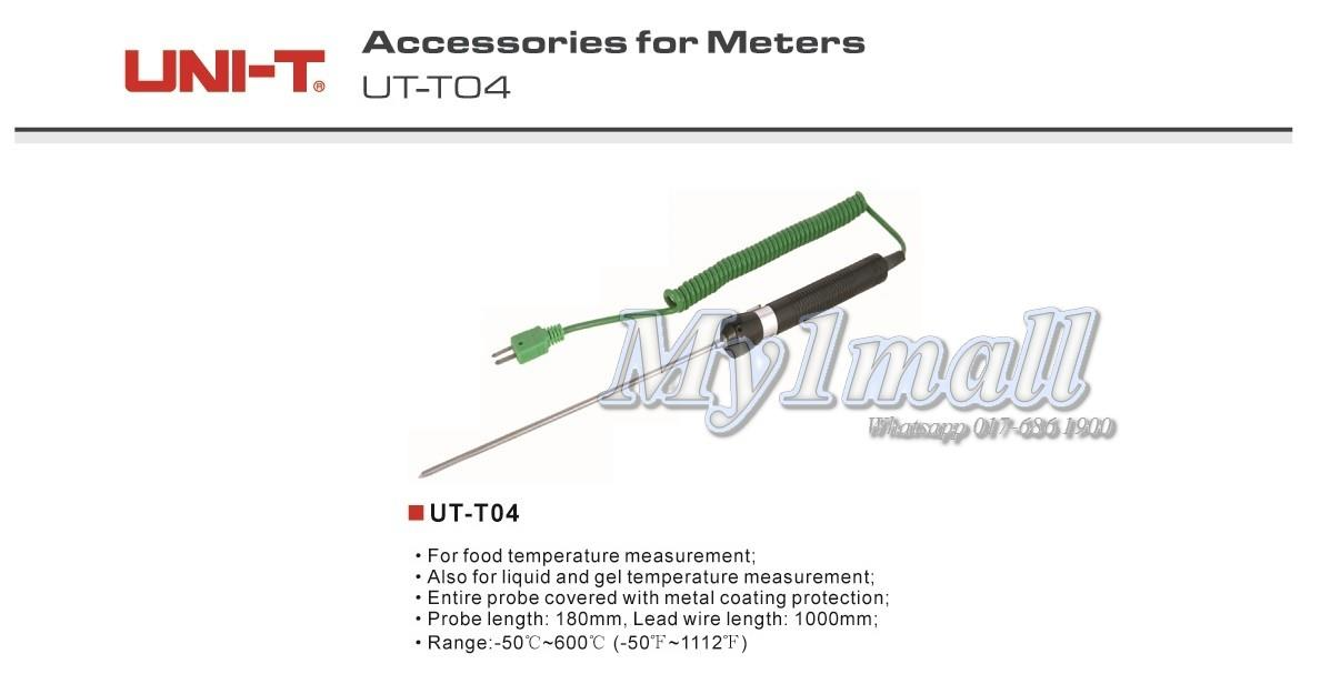 UNI-T UT-T04 -50-600°C Food Temperatur Probe Sensor