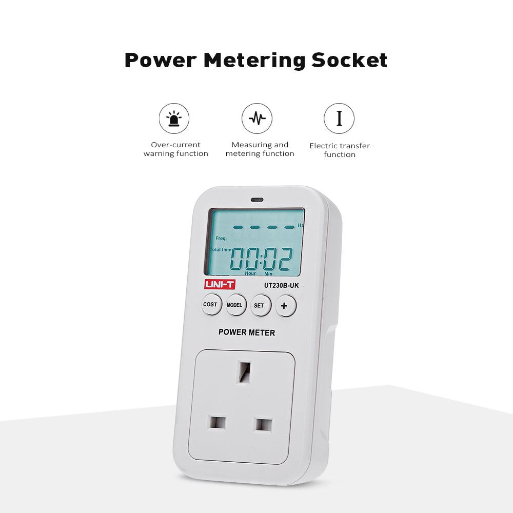UNI - T UT230B - UK Electricity Usage Monitor Power Meter