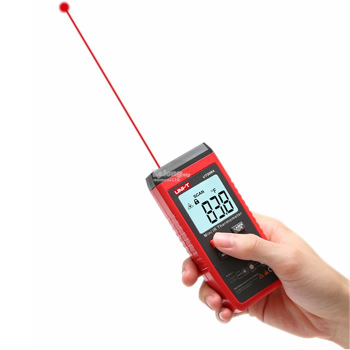 UNI-T UT306A Mini LCD -35~300℃ Infrared Thermometer Red Laser Te..
