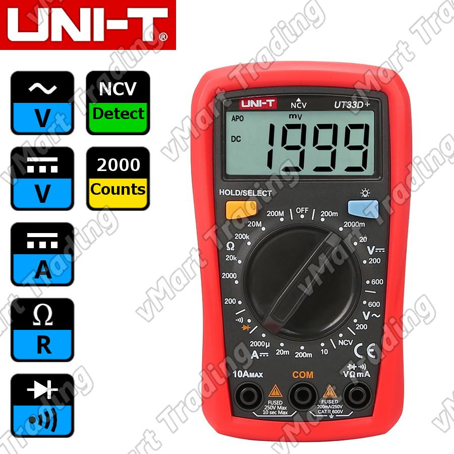 UNI-T UT33D+ Palm-Size Digital Multimeter