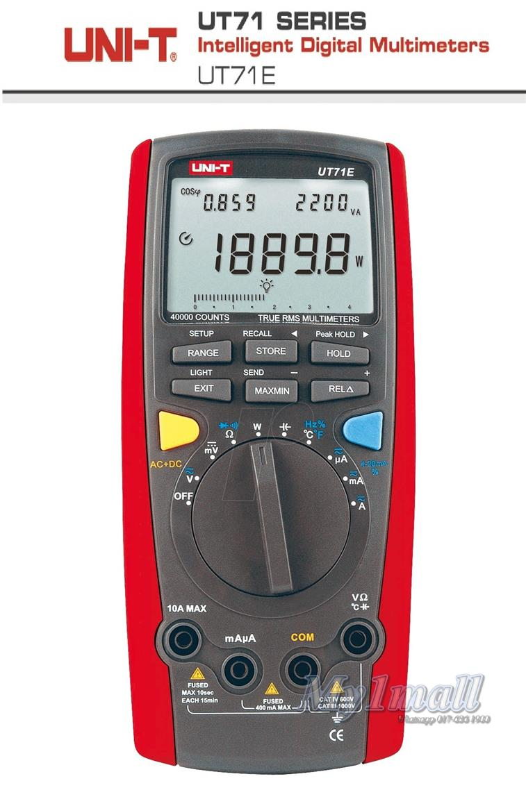 UNI-T UT71E Intelligent Digital Multimeter Tester USB Auto Data Log