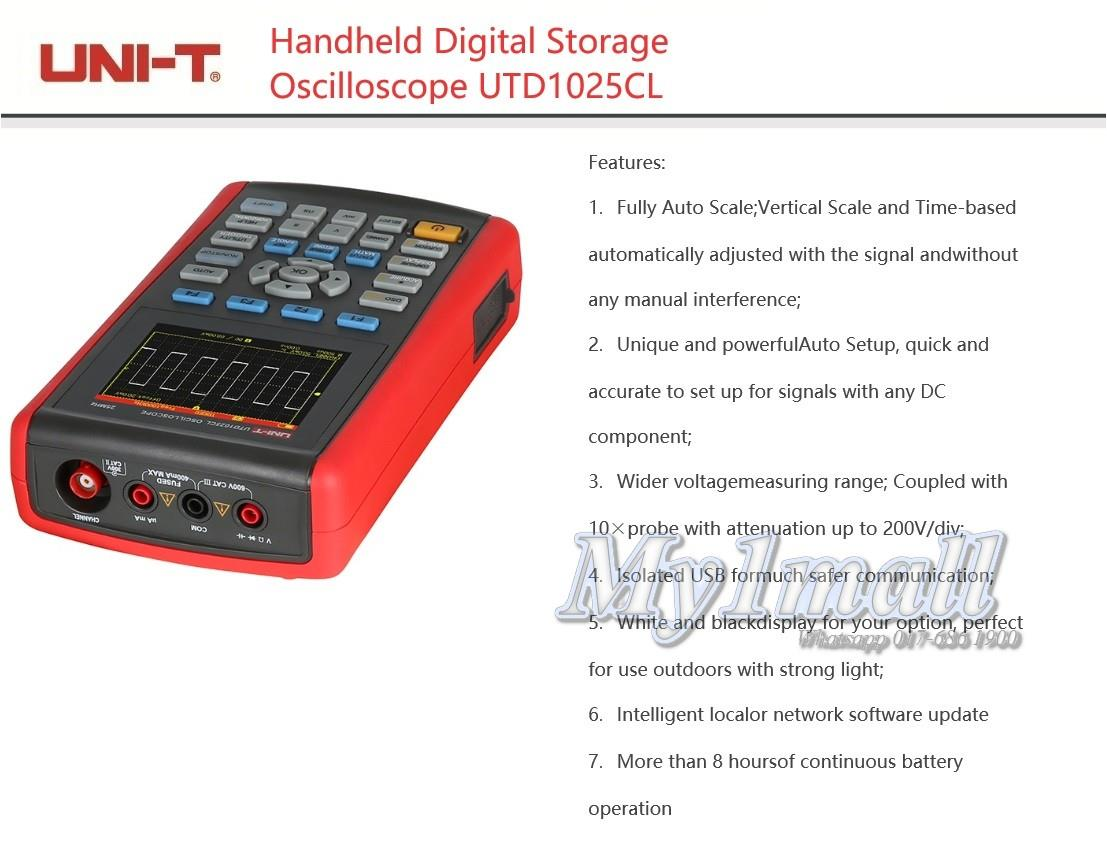 UNI-T UTD1025CL HANDHELD DIGITAL STORAGE