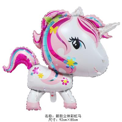 Unicorn 3D Balloons Happy Birthday Party 92 cm X 85 cm