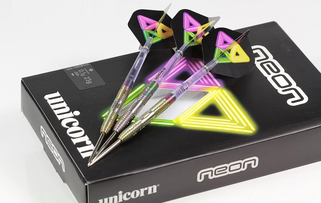 UNICORN STEEL TIP DARTS - NEON 2 DNA 90 TITANIUM TUNGSTEN [21G]