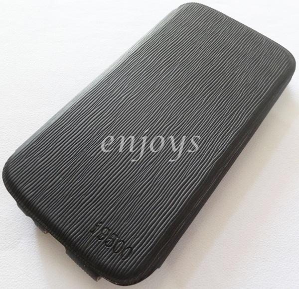 UNIQUE FULL Cover Case Pouch Samsung I9500 Galaxy S4 ~BLACK *XPD