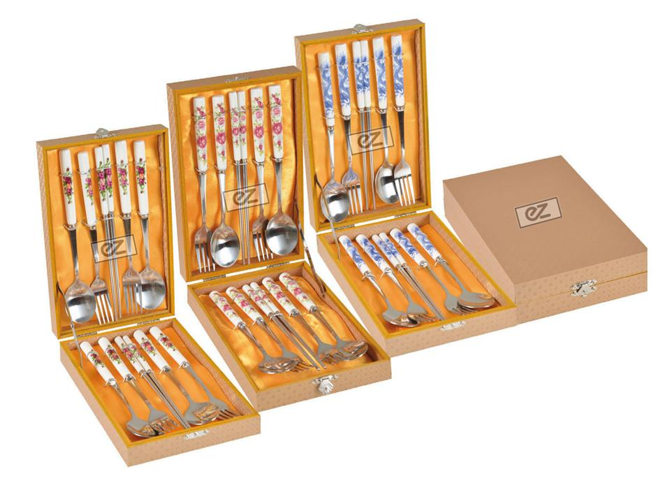 Unique Nice Designs Finishing Cutlery Sets In A Gift Box