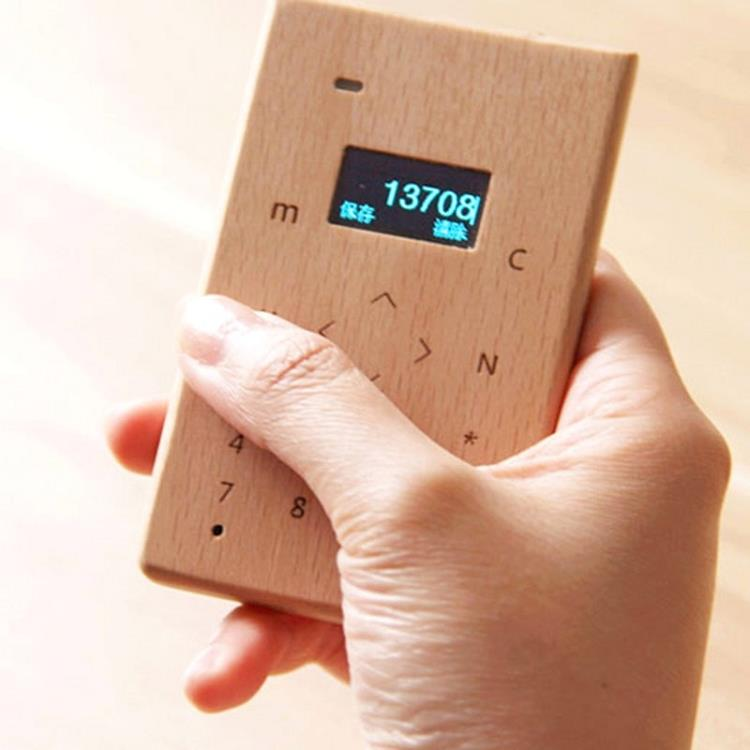Unique Touch Bamboo Mini Phone (WP-MINI19B).