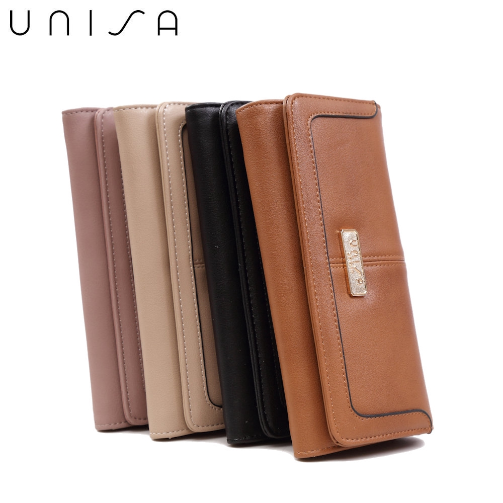 UNISA Faux Leather Contrast Edge Ladies Bi-Fold Wallet