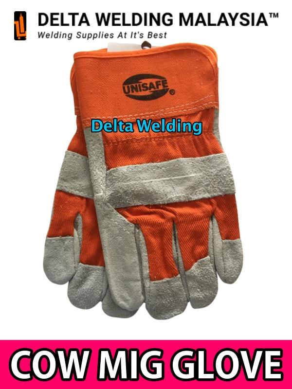 Unisafe Cowhide MIG Work Welding Glove ( Orange  )