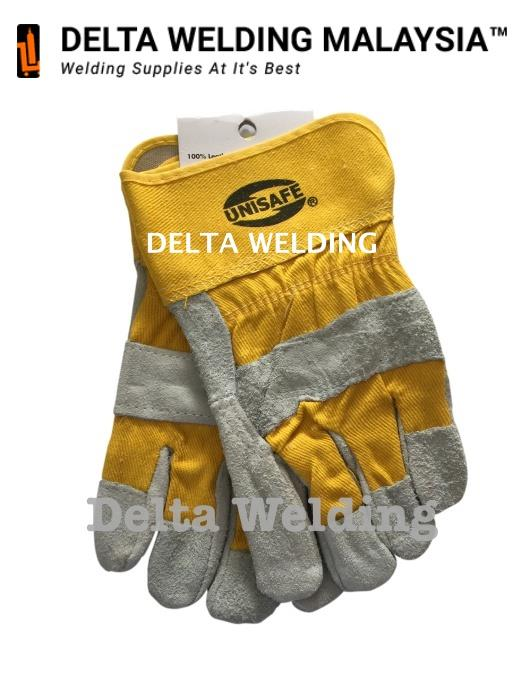 Unisafe Cowhide Yellow MIG Work Welding Glove