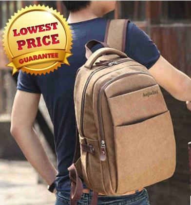 Unisex New Canvas Backpack Genuine Laptop Backpack School Backpack