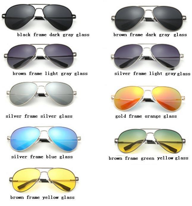 Unisex Men Aviator Sunglasses polarized driving beach night party use 97806291062