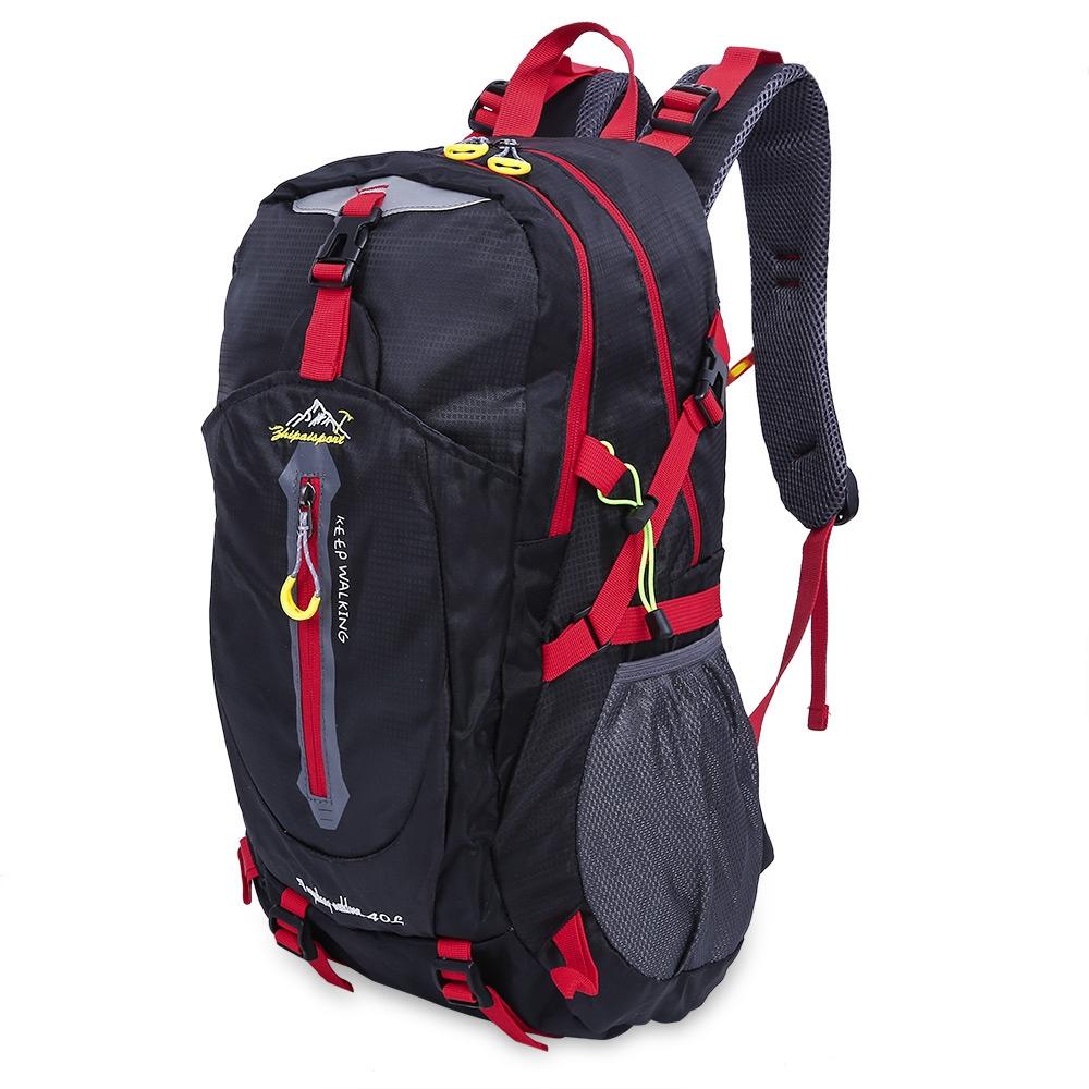 Uni Portable Bag Travel Outdoor Backpack Black