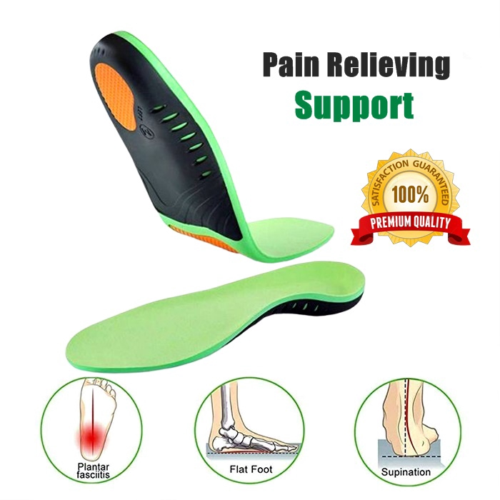 Unisex Shoes Insole For Flat Feet Arch Support 1 Pair | Absorbin - [S]
