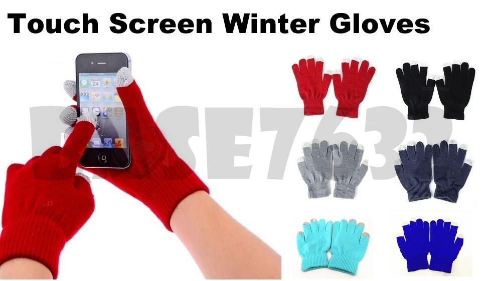 Unisex Touch Screen Winter Snow Glove Warmer Smartphone Text SMS